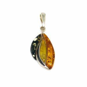 Small Multi Color Amber Pendant