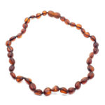 Matte Finish/Raw Cherry Amber Baby/Teething Necklace