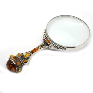 Multi Color Amber .925 Sterling Silver Magnifying Glass