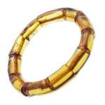 Cognac Amber Stretch Bracelet