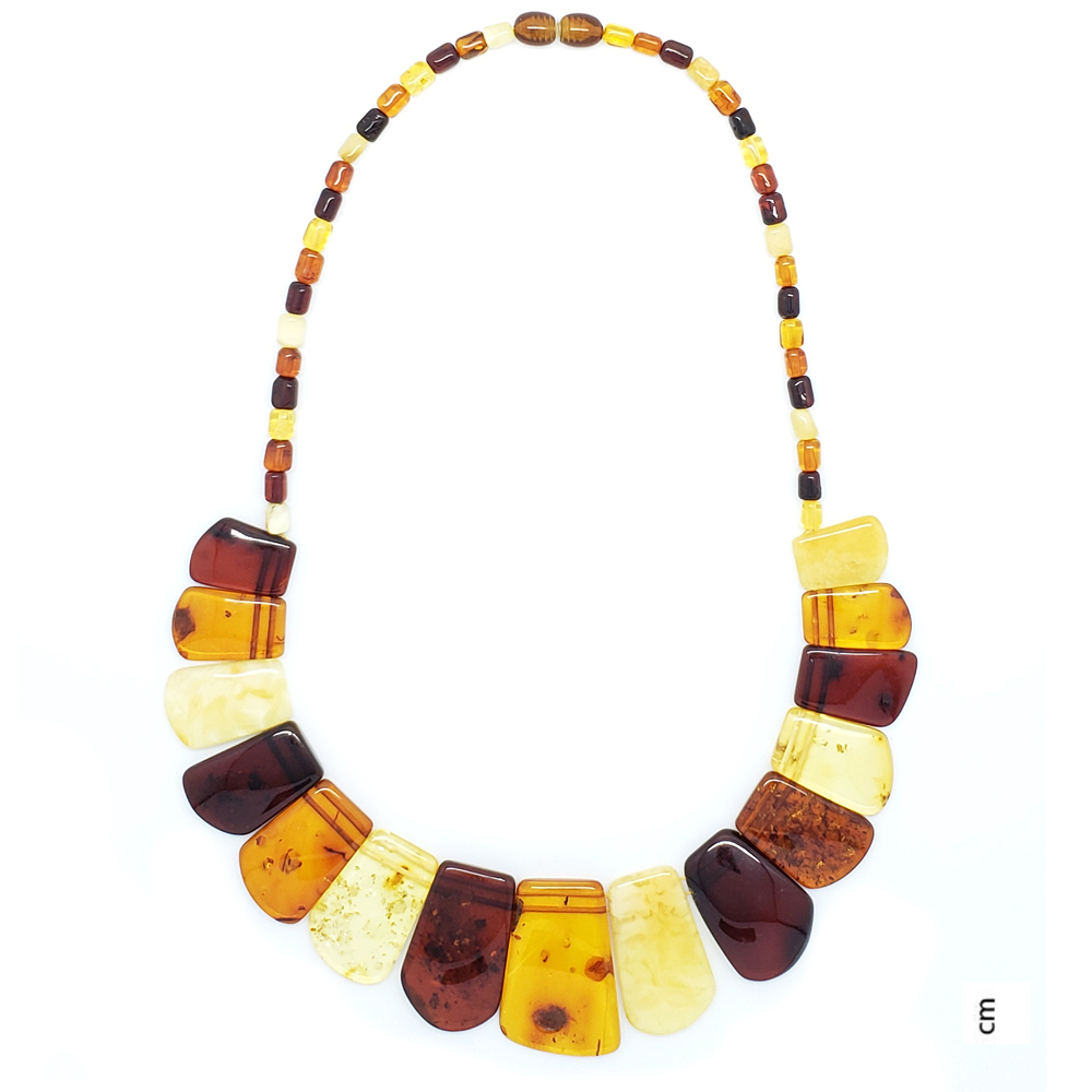 Multi Color Amber Cleopatra Necklace