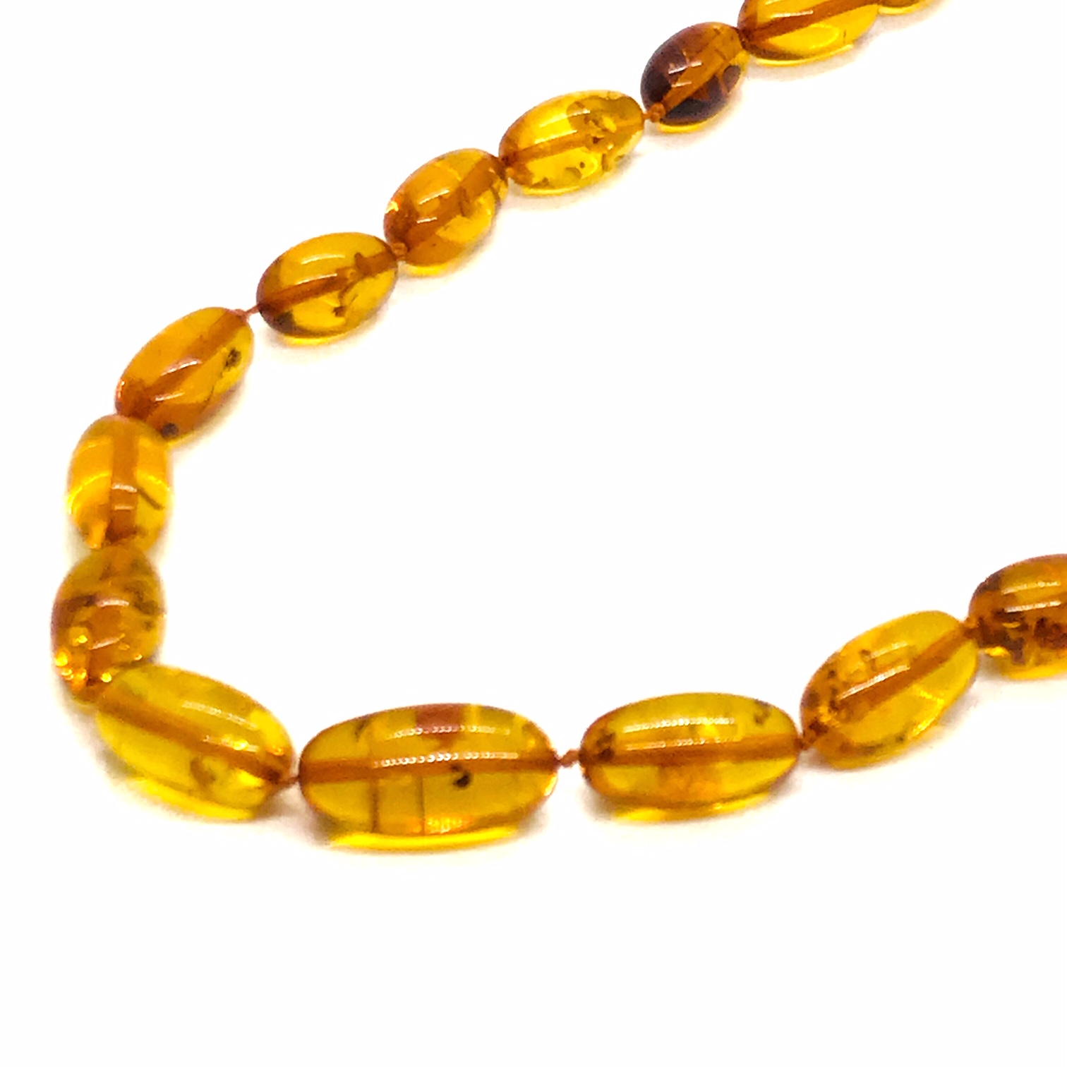 Small Cognac Amber Bead Necklace