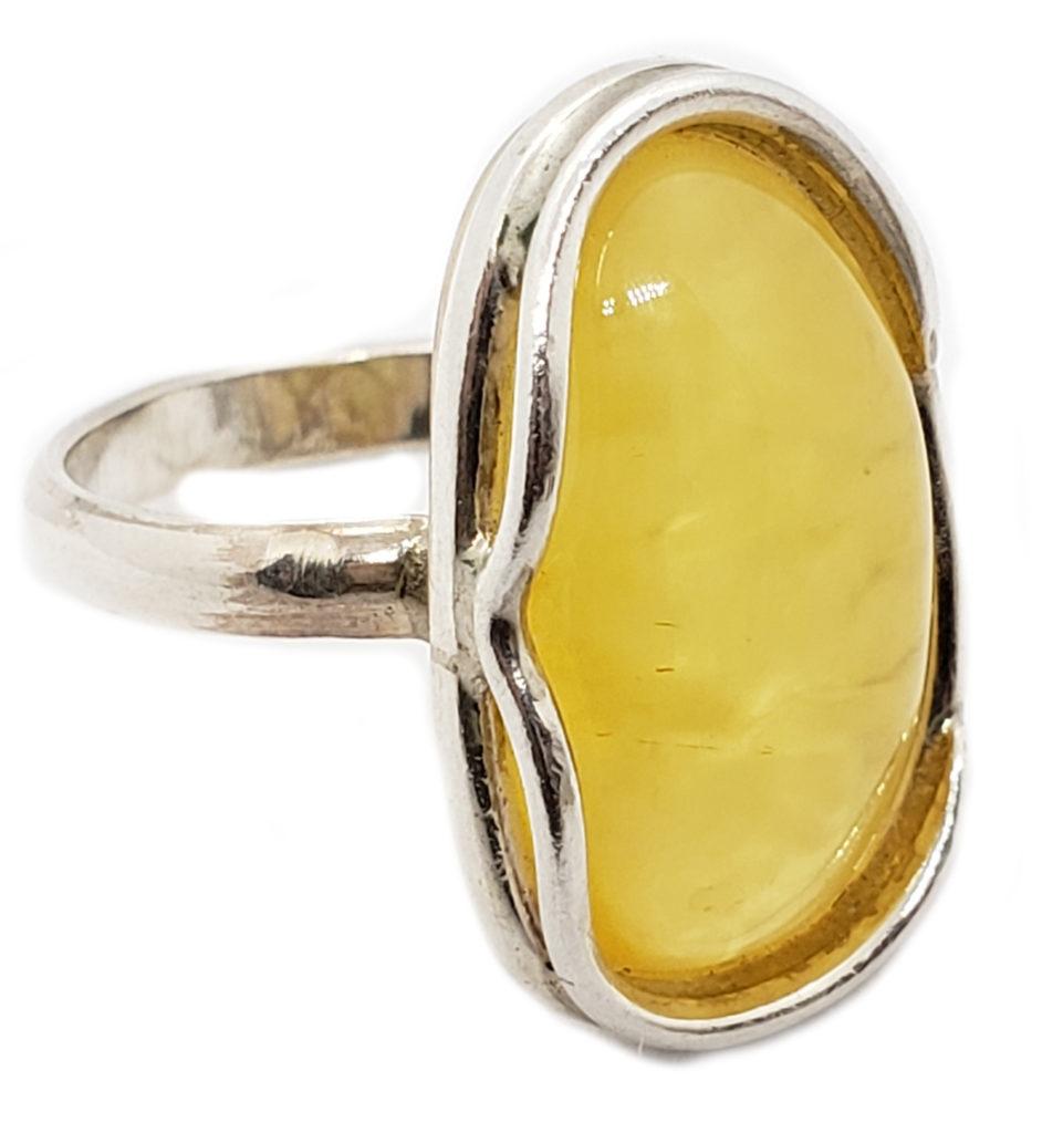 Butterscotch Amber .925 Silver Handmade Ring