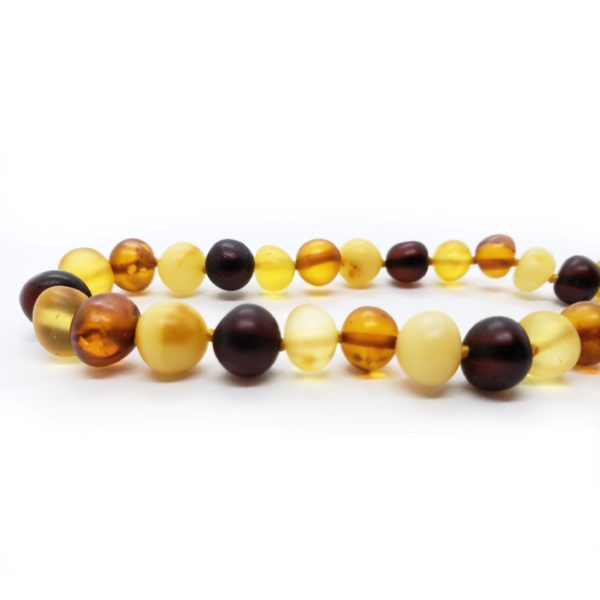 Matte Finish Multi Color Amber Necklace