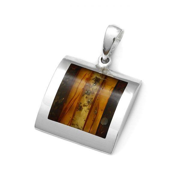 Baltic Amber Multicolor Mosiac Pendant