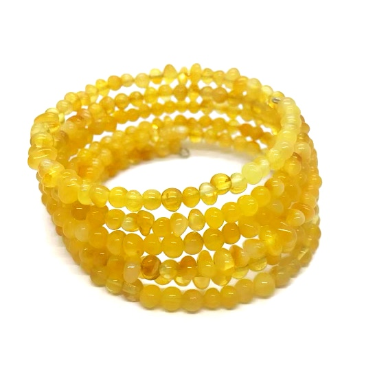 Butterscotch Amber Memory Wire Bracelet
