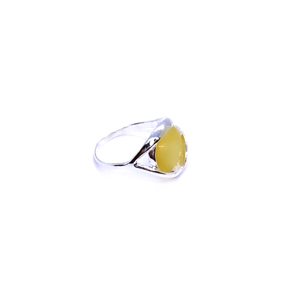 Butterscotch Amber .925 Sterling Silver Ring