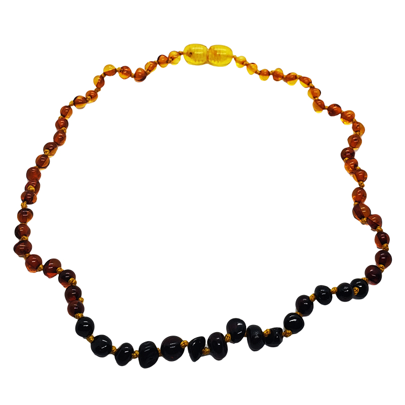 Genuine Baltic Amber Rainbow Necklace for Kids