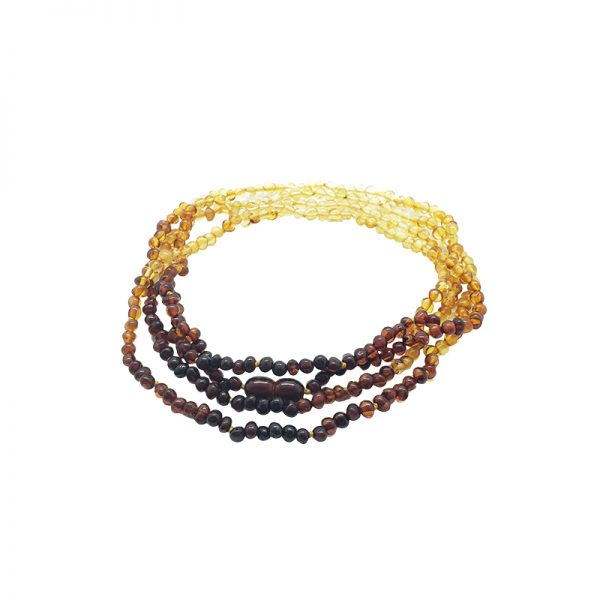 """Multi-Color Amber """"Rainbow"""" Necklace"""