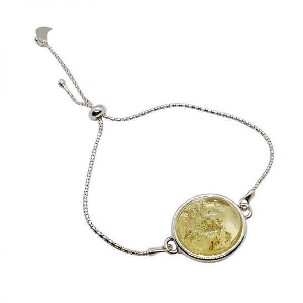 Citrine Amber Stones Adjustable Bracelet