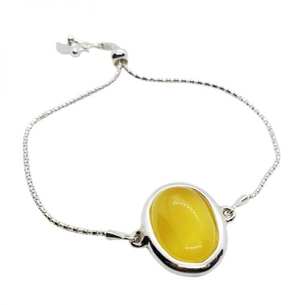 Butterscotch Amber Stones Adjustable Bracelet