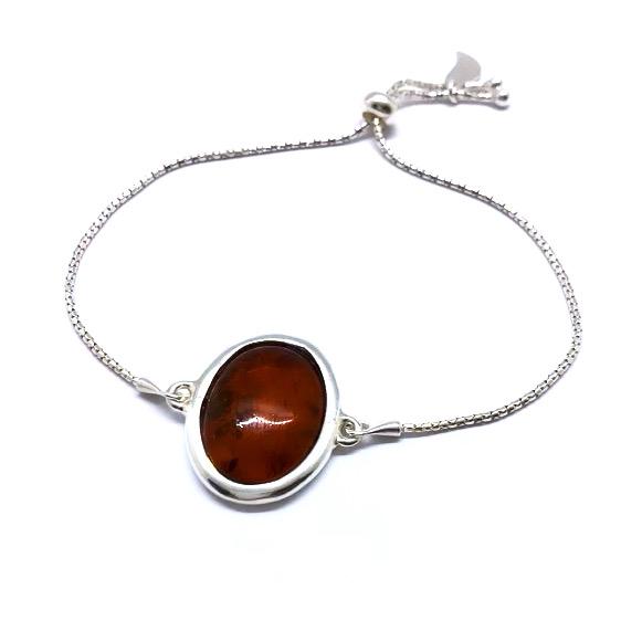 Cherry Amber Adjustable Chain Bracelet