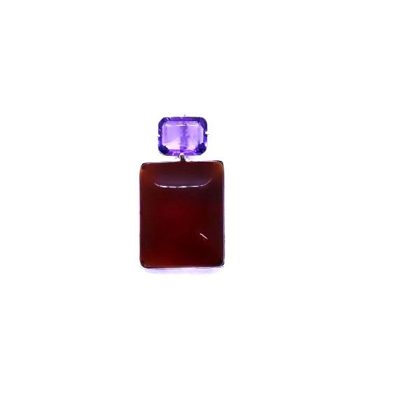 Cherry Amber/Amethyst Pendant