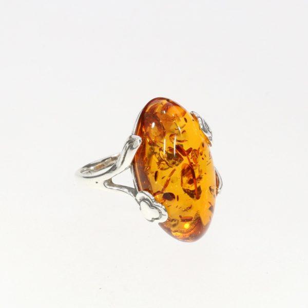 Cognac Amber Flower Design