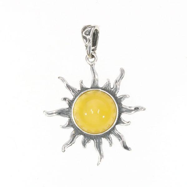 """Butterscotch Color Amber """"Sun"""" Pendant"""