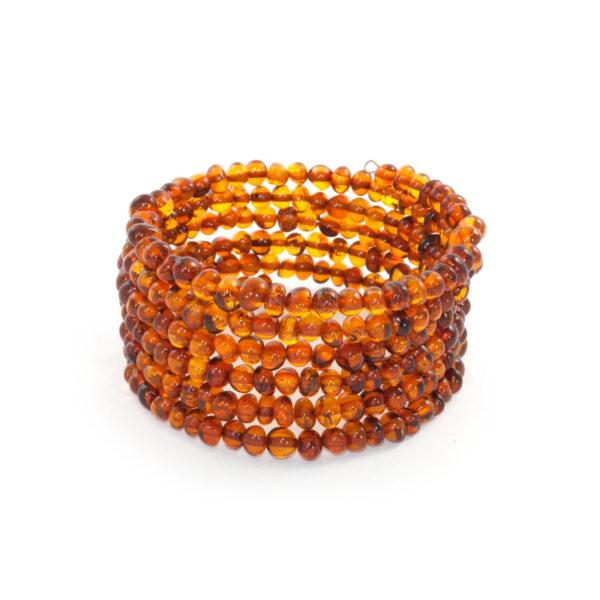 Cognac Amber Memory Wire Bracelet