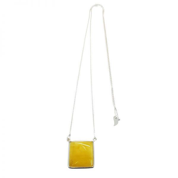Butterscotch Amber Sterling Silver Slider Necklace